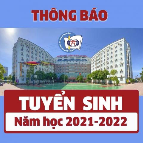 THÔNG BÁO TUYỂN SINH LỚP 10 NĂM HỌC 2021 - 2022